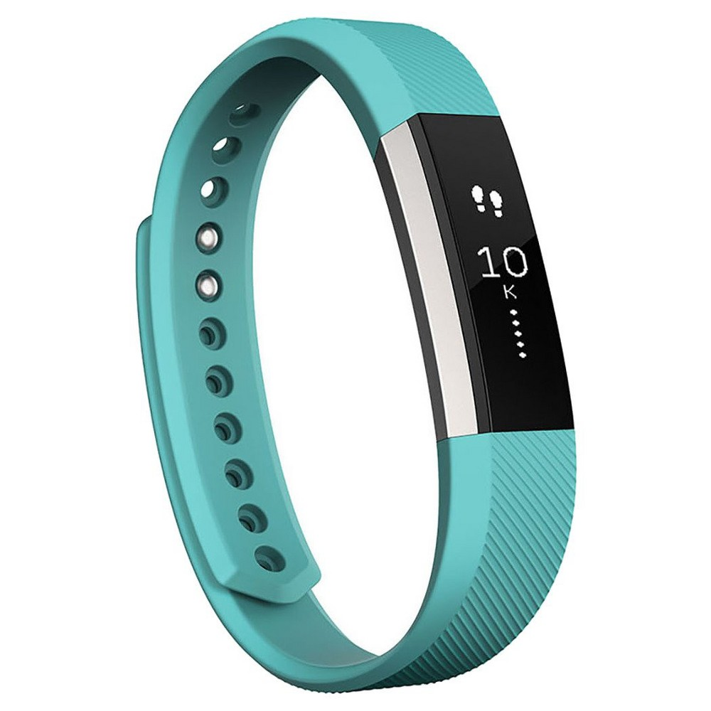 Fitbit Alta Activity and Sleep Tracker - Teal (Blue)(Large) Motivation is your best accessory with Fitbit Alta--a customizable, slim fitness tracker that's as versatile as your personal style. Automatically track activity, exercise and sleep, get Reminders to Move and smartphone notifications, and update your look for every occasion with accessory bands in metal, leather and more. Works with iPhone, Android and Windows. Size: Large. Color: Teal.