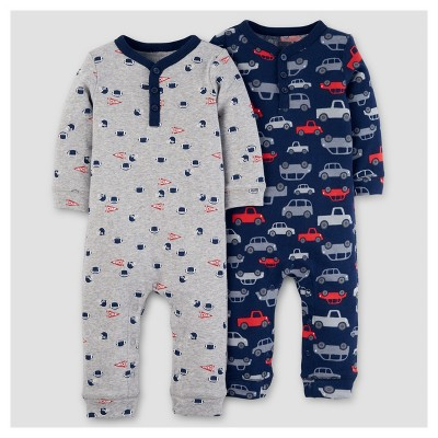 Baby Boys' 2pk Jumpsuit - Just One You™ Made by Carter's® Navy Cars 6M