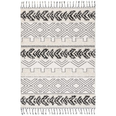 5'x8' Rectangle Loomed Area Rug Gray - nuLOOM