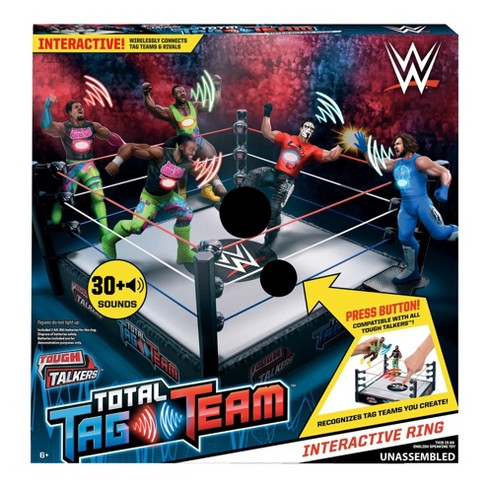 WWE Tough Talkers Total Tag Team Interactive Ring Playset - image 1 of 5