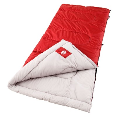 Coleman® Palmetto Cool Weather Sleeping Bag - Red/White