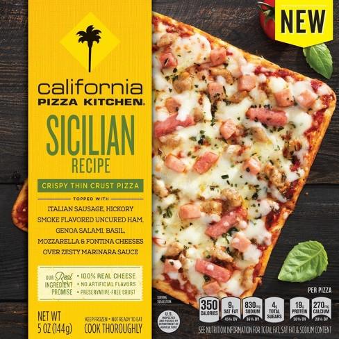 California Pizza Kitchen Sicilian Recipe Thin Crust Frozenpizza 5oz