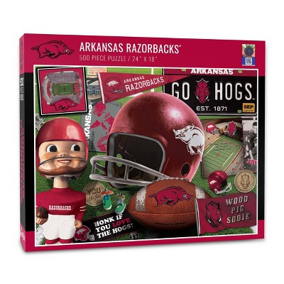 NCAA Arkansas Razorbacks Throwback Puzzle 500pc