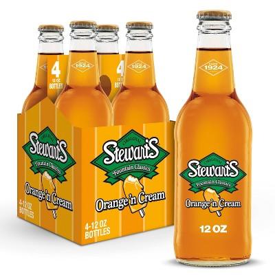 Stewart's Orange 'n Cream Made with Sugar - 4pk/12 fl oz Glass Bottles