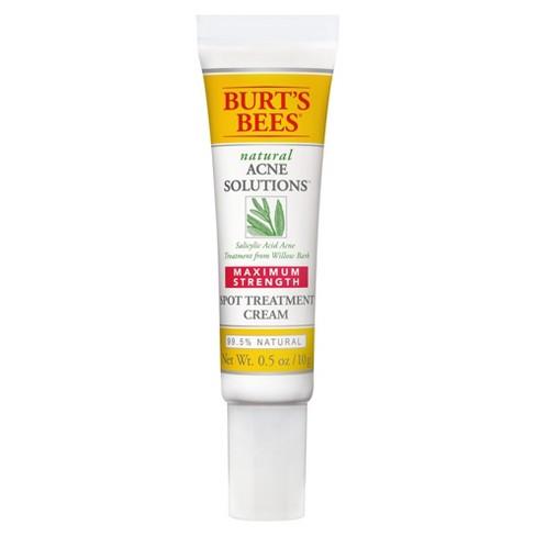 Burt's Bees Natural Acne Solutions Maximum Strength Spot Treatment Cream - 0.5 oz - image 1 of 5