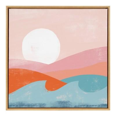 "30"" x 30"" Sylvie Endless Summer Framed Canvas By Kate Aurelia Holloway Natural - Kate and Laurel"