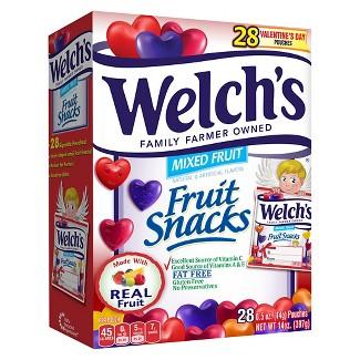 Welchs Valentines Day Fruit Snacks - .5oz/28ct