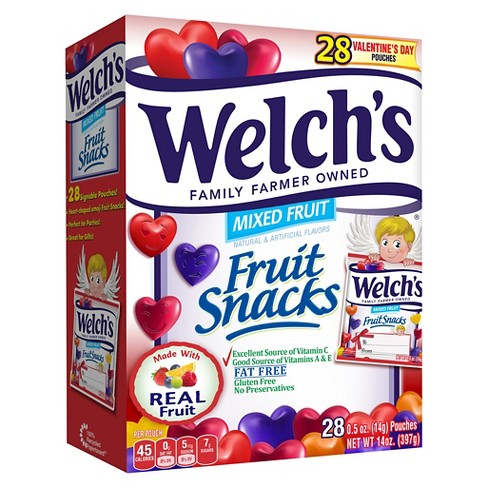 Welch's Valentine's Day Fruit Snacks - .5oz/28ct - image 1 of 1