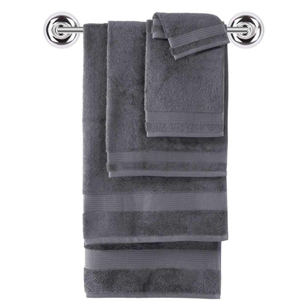 Image of 6pc Amadeus Turkish Bath Towel Set Sleek Gray - Makroteks