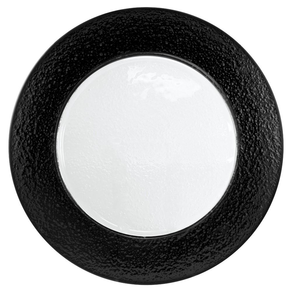 Ten Strawberry Street Black Rim Glass Charger Plate 13x13 Set of 6