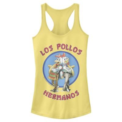 Junior's Breaking Bad Los Pollos Hermanos Chicken Logo Racerback Tank Top
