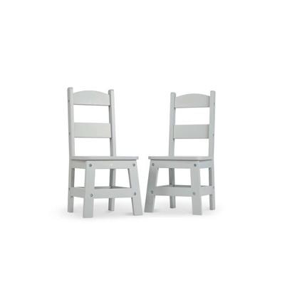 Melissa & Doug Wooden Chair Pair - Gray