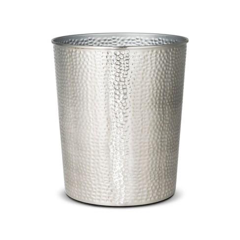 Solid Hammered Wastebasket - Threshold™ - image 1 of 1