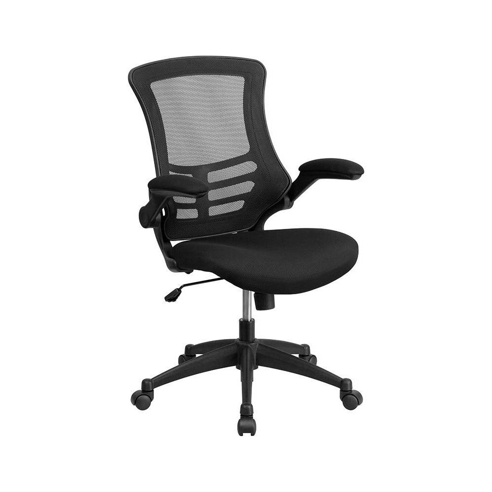 Mid Back Task Mesh Chair Black - Riverstone Furniture Collection