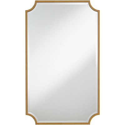 """Noble Park Jacinda Antique Gold 24"""" x 40"""" Rounded Cut Edge Wall Mirror"""