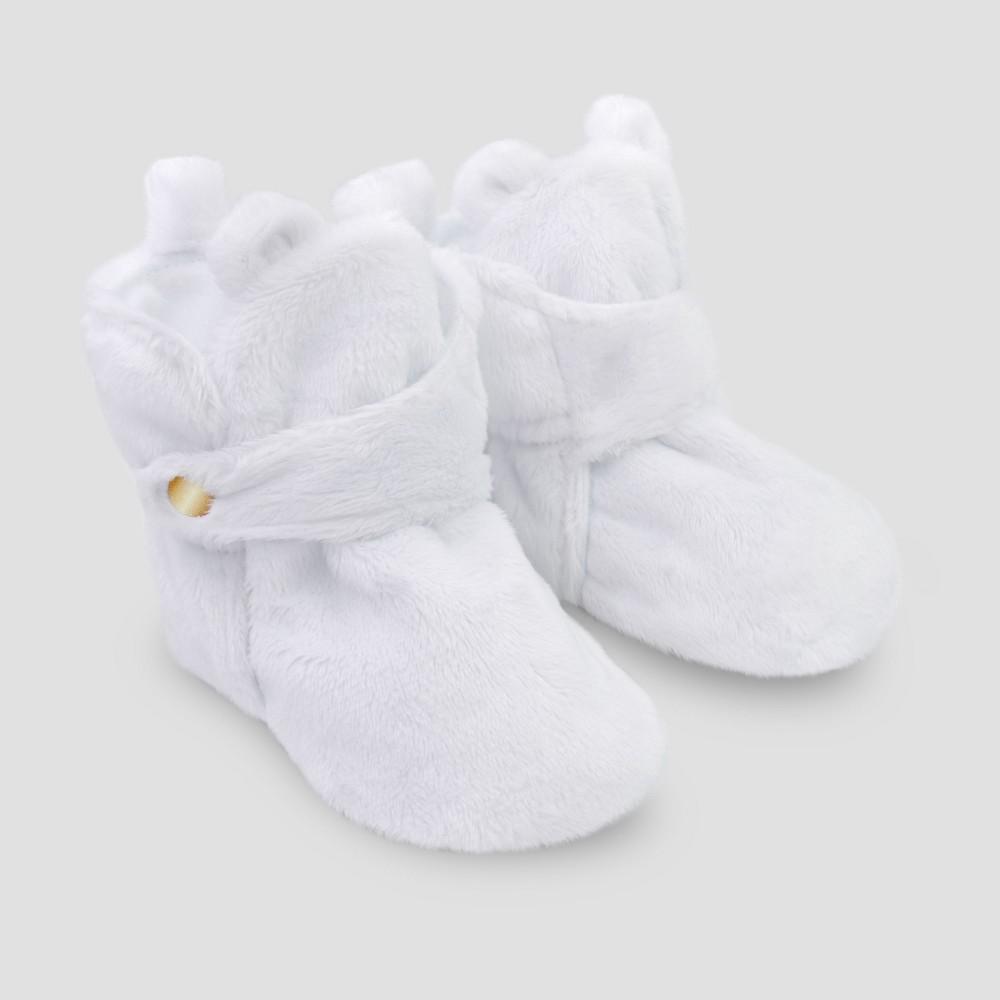 Baby Bear Crib Bootie Slippers - Cat & Jack White 3-6M, Infant Unisex