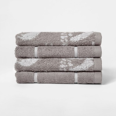 Woven Pattern Washcloth Light Gray - Project 62™