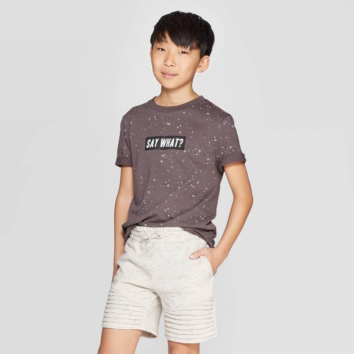 Boys' Short Sleeve Graphic T-Shirt - art class™ Gray - image 1 of 3