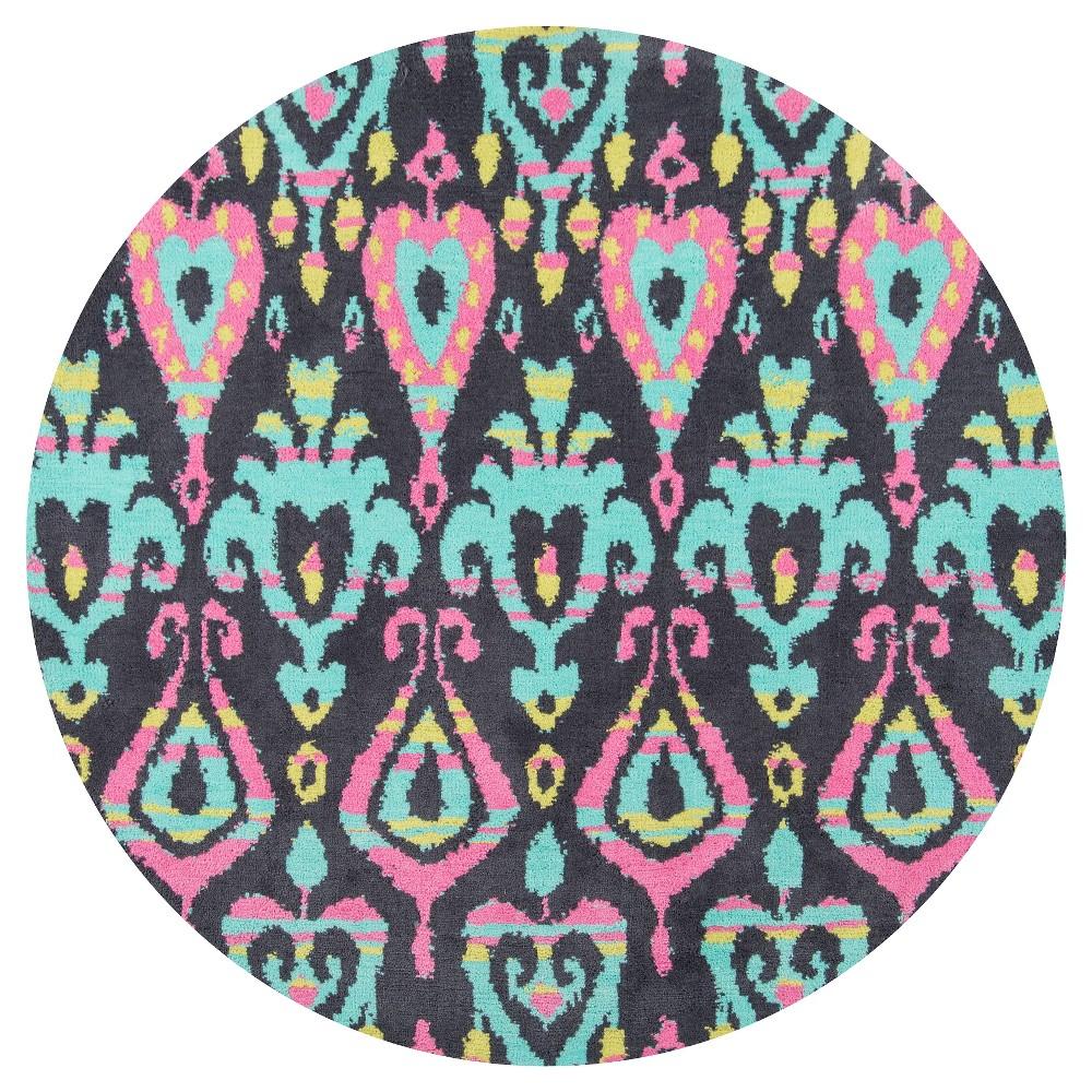 Ikat Paisley Rug - ( 4'x4' Round ) - Momeni, Multicolored