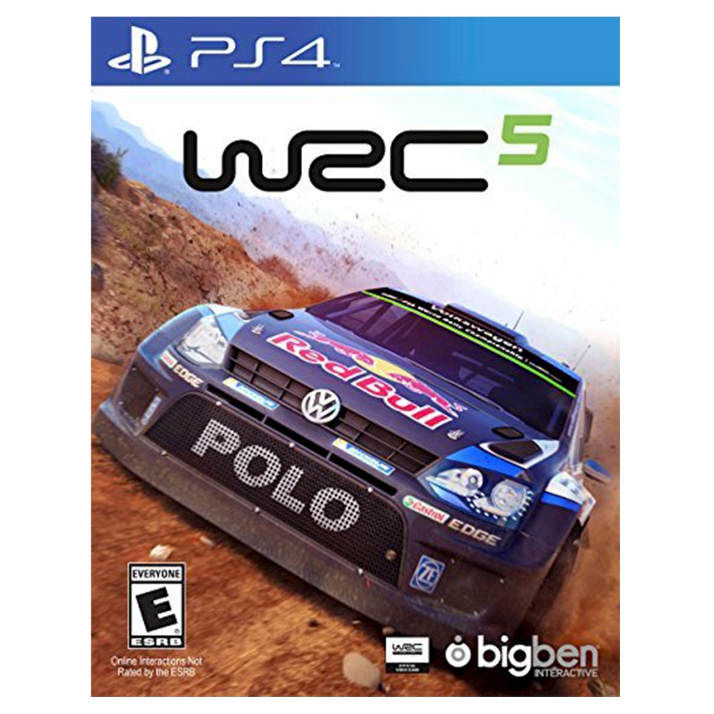 WRC 5 PlayStation 4, video games Be a professional racer in WRC 5 (PlayStation 4) - Maximum Games. The game works for PlayStation 4 consoles. Control your car in the interactive video game with suspensions, brakes, ride height and 20 additional details for you to deliver your ultimate driving style.