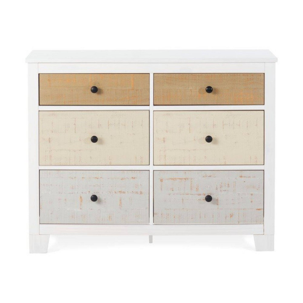 Image of Forever Eclectic Rockport 6 Drawer Dresser - White