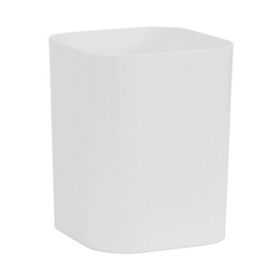 Plastic Bathroom Wastebasket True White - Room Essentials™