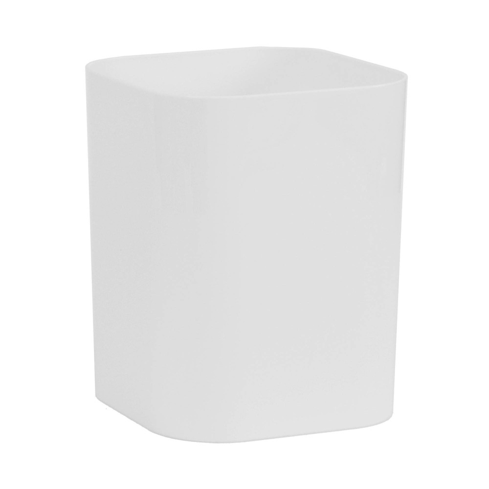 Image of Plastic Bathroom Wastebasket True White - Room Essentials