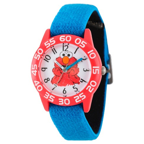 Boys' Sesame Street Red Plastic Time Teacher Watch - Blue - image 1 of 2