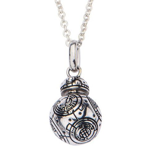 "Women's  'Star Wars' Episode VII BB-8 925 Sterling Silver 3D Pendant with Chain (18"") - image 1 of 3"
