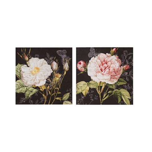 2pc Restoration Rose Printed Canvas - image 1 of 4
