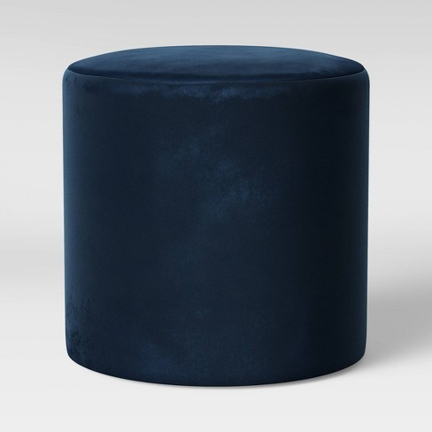 Bodrum Round Upholstered Ottoman Velvet - Project 62™ - image 1 of 3