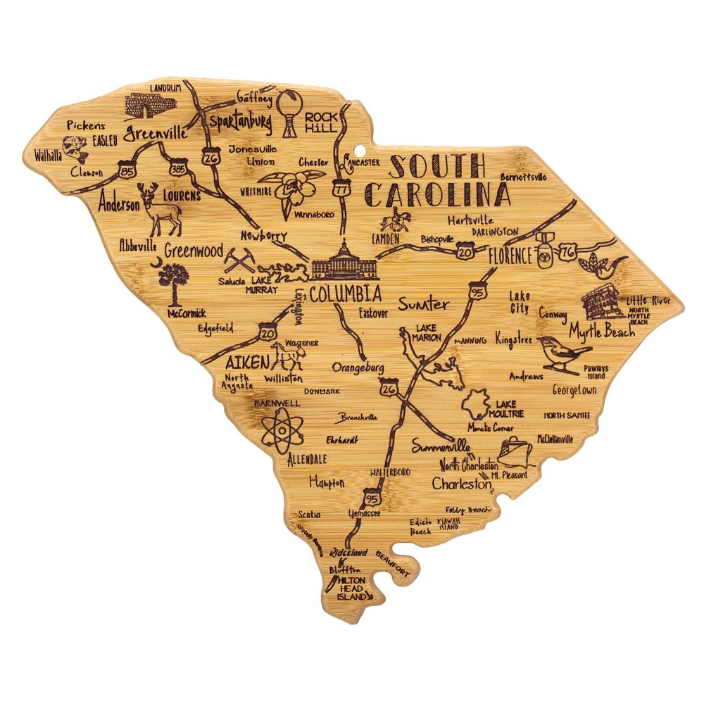 Compare Totally Bamboo Destination South Carolina Serving and Cutting Board