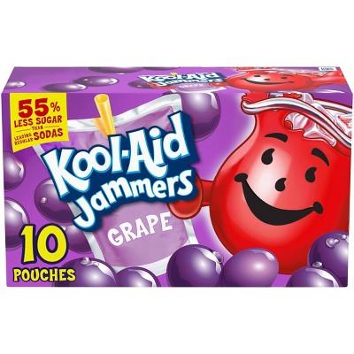 Kool-Aid Jammers Grape Juice Drinks - 10pk/6 fl oz Pouches