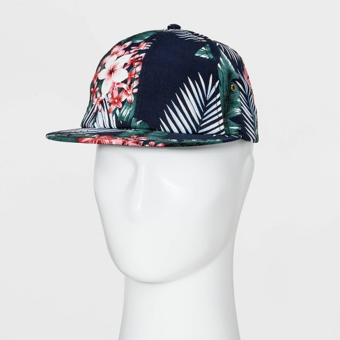 e48f9829542 Men s Floral Print Slouch Baseball Hat - Goodfellow   Co™ Navy One Size    Target