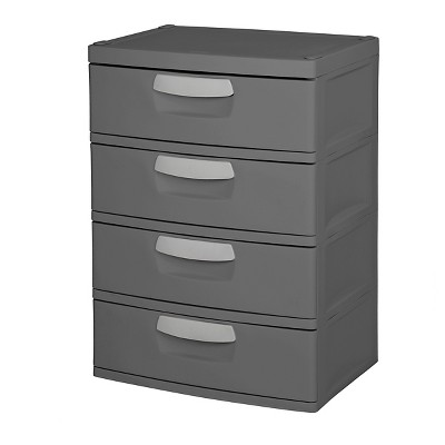 Sterilite 4-Drawer Garage and Utility Storage Unit Gray