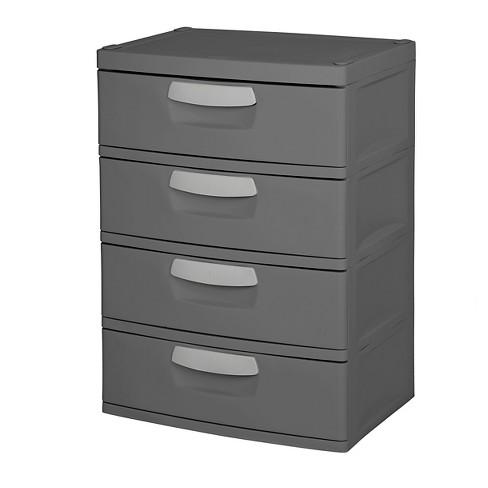 Sterilite 4 Drawer Garage And Utility Storage Unit Gray