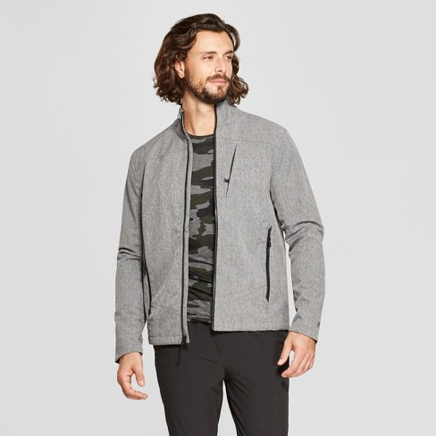 Men's Woven Softshell Jacket - C9 Champion® Black Heather L - image 1 of 2