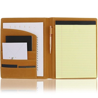 Pink Leather Inspirational Business Portfolio Padfolio Folder