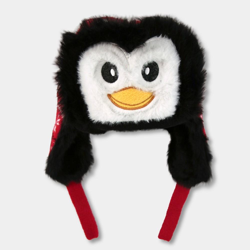 Image of Kids' Penguin Trapper Hat - Red, Kids Unisex