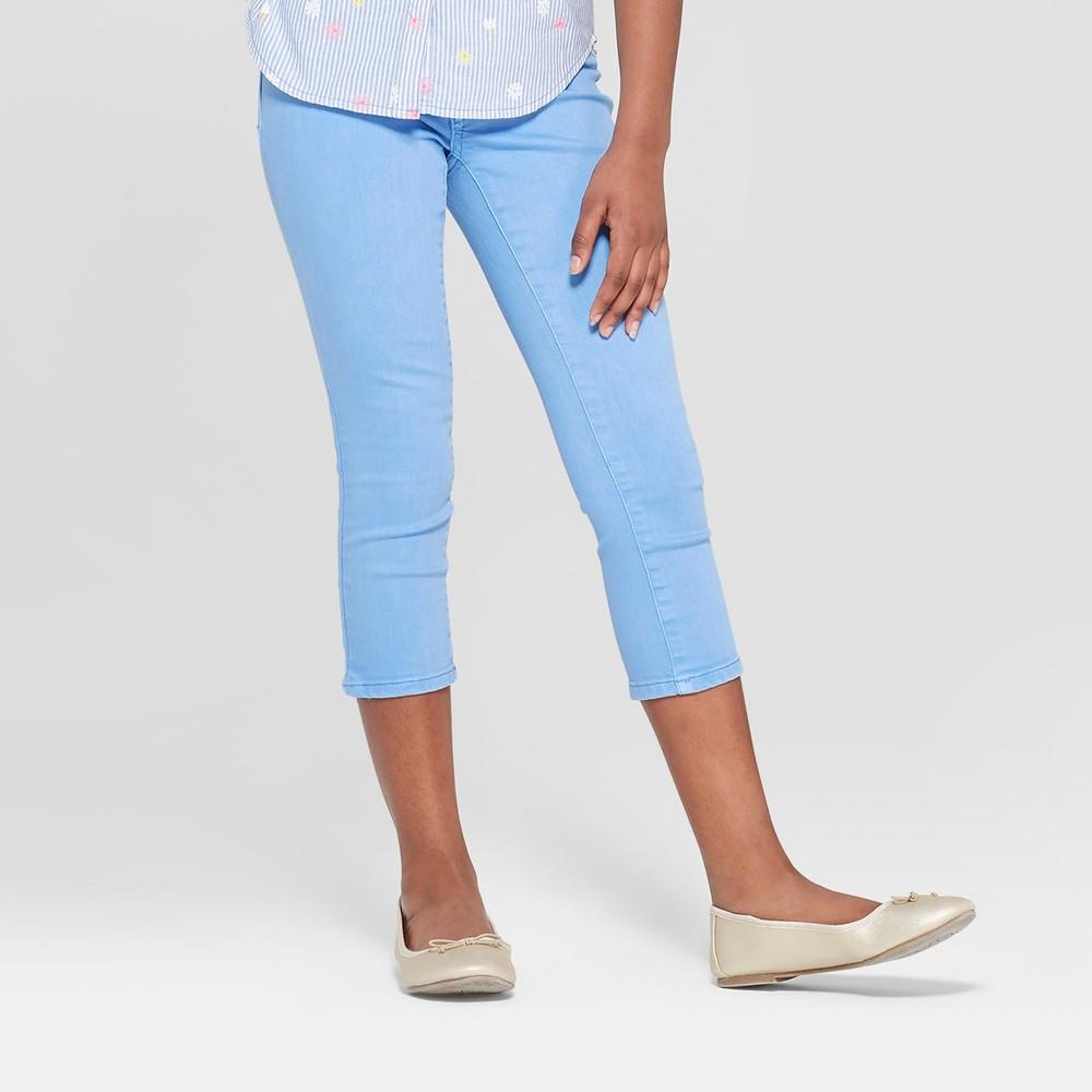 Girls' Crop Jeans - Cat & Jack Blue 4