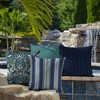 2pk Square Aurora Stripe Outdoor Throw Pillows Sapphire - Arden Selections - image 3 of 4