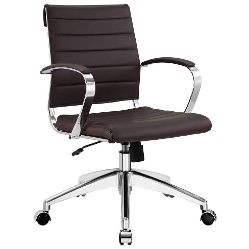 Jive Mid Back Office Chair Brown - Modway - image 1 of 4