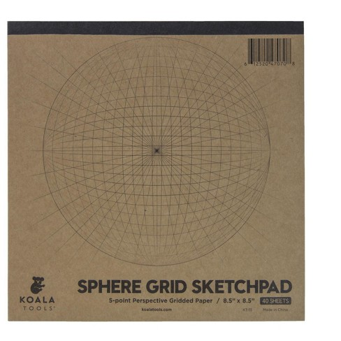 Sphere Grid Sketchpad, 5 Point Perspective, 8-1/2 x 8-1/2 inch, 40 Sheets - image 1 of 1