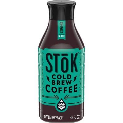SToK Un-Sweet Black Cold Brew Iced Coffee - 48 fl oz
