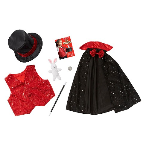 Melissa & Doug® Magician Role Play Costume Set - Includes Hat, Cape, Wand, Magic Tricks - image 1 of 3