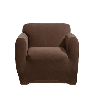 Stretch Morgan Chair Slipcover Chocolate - Sure Fit