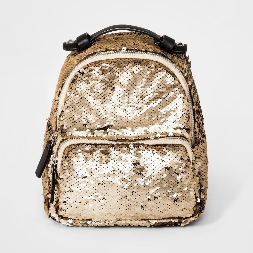 Girls' Sequin Mini Backpack - art class Gold