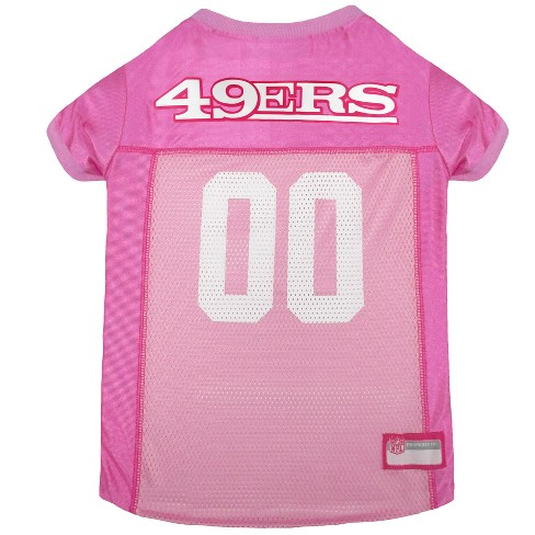 NFL Pets First Pink Pet Football Jersey - San Francisco 49ers   Target 53808328b