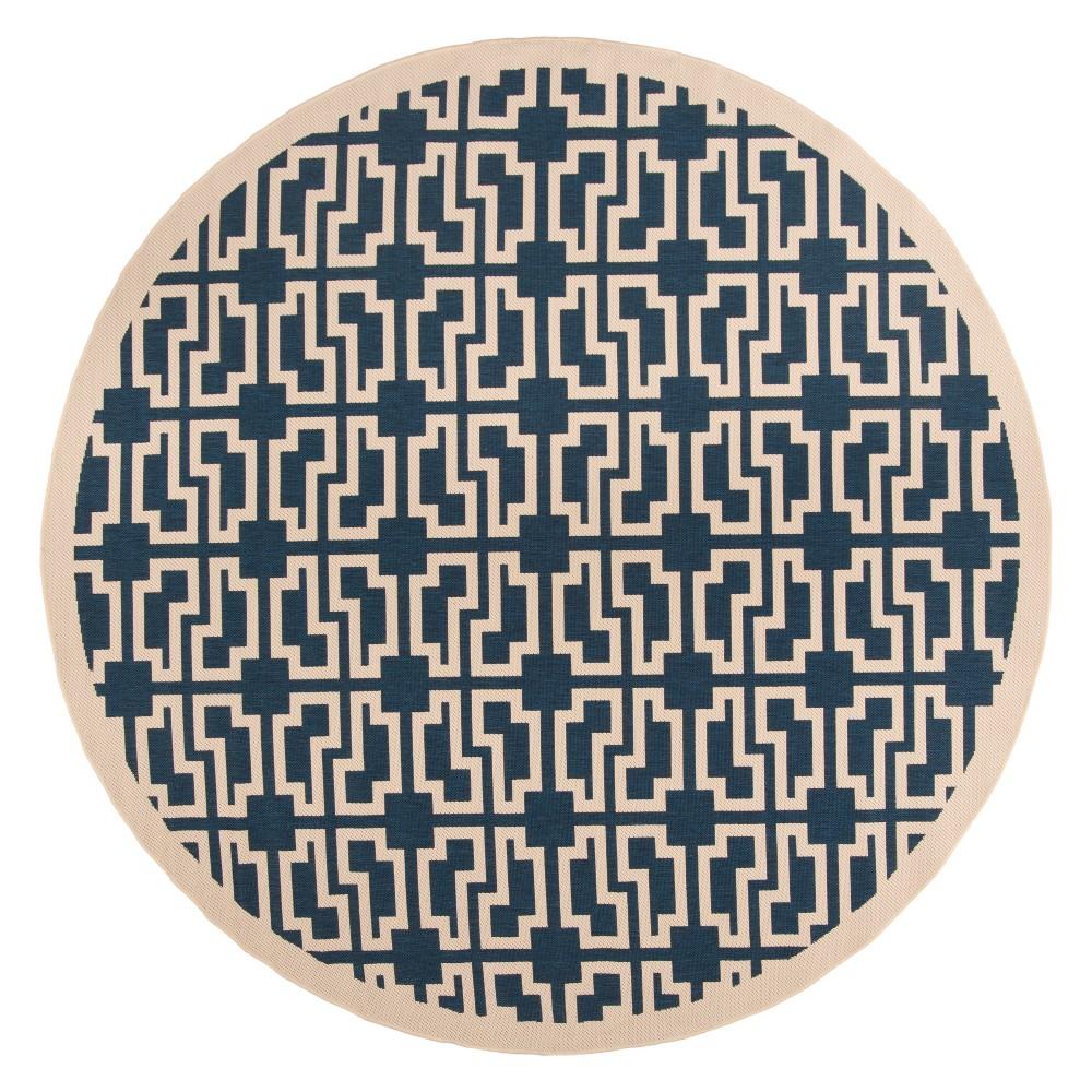 Bury 7'10 Round Rug - Navy/Beige (Blue/Beige) - Safavieh