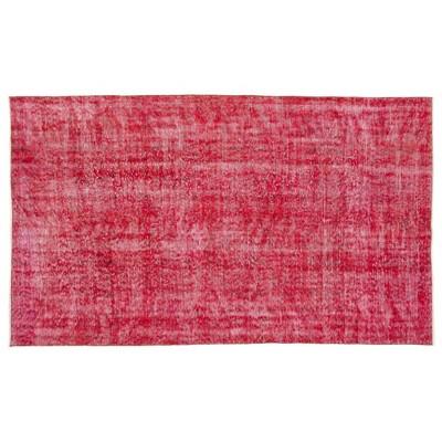 "4'7""x7'8"" Vintage One-of-a-Kind Rhosyn Rug Red - Revival Rugs"